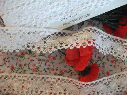 Exclusive English Nottingham Cotton Cluny Lace Vintage ( FCUCLW1)